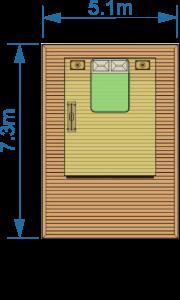 deck 5.1m x 7.3m