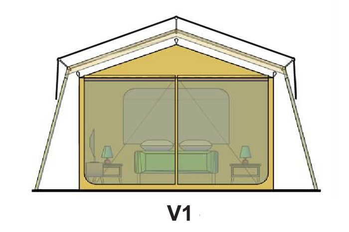 V1 tent roof