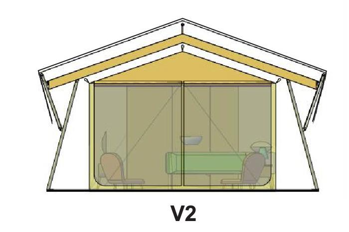 V2 tent roof